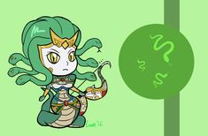 Chibi Medusa - Smite by Eroxan on DeviantArt