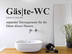 Mit dem Wandtattoo Gäste-WC kannst Du Deine Wand kreativ gestalten.