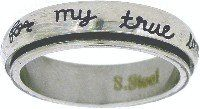 Christian Unisex Stainless Steel Abstinence Purity Cursive I Will Wait For My True Love Spinner Chastity Ring - Guys Purity Ring, Girls Purity Ring Solid Rock Jewelry http://www.amazon.com/dp/B00CLD6QVQ/ref=cm_sw_r_pi_dp_mpkQub0D3PZX7