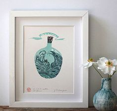 An Ark To Weather All Storms Screenprint by Deborah Champion £12