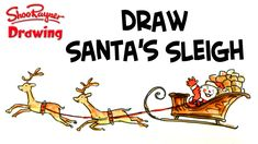 Learn to draw Santa in his sleigh being pulled through the night sky by a pair of reindeer. Of course they aren't real reindeer, but Santa's Christmas Reinde. Real Reindeer, Santa And Reindeer, Santa Christmas, Christmas Cards, Xmas, Reindeer Drawing, How To Draw Santa, Santa Sleigh, Drawing Techniques