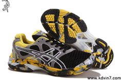New Asics Gel Noosa Tri 7 Mens Black Yellow Grey White Sports Shoes Store Asics Running Shoes, Asics Shoes, Black Running Shoes, Football Shoes, Nike Football, Kd 6 Shoes, New Shoes, Cheap Shoes, Closets