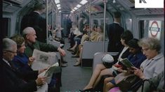 London Underground, People On The Tube, Commuters, UK from the Kinolibrary Archive Film Collections. Tube Train, London Underground Stations, London People, Travel Oklahoma, New York Travel, Train Travel, The Good Old Days, Thailand Travel, Viajes