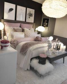 dream rooms for adults ; dream rooms for women ; dream rooms for couples ; dream rooms for adults bedrooms ; dream rooms for girls teenagers Cozy Bedroom, Bedroom Inspo, Bedroom Apartment, Bedroom Inspiration, Bedroom Size, Bedroom Setup, Apartment Ideas, Apartment Interior, Apartment Design
