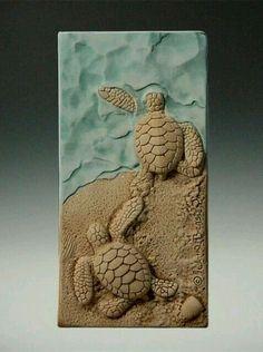 John Beasley is the artist. He creates incredible ceramic tiles for Medicine Blu. John Beasley is the artist. He creates incredible ceramic tiles for Medicine Bluff Studio that you Clay Tiles, Ceramic Clay, Ceramic Pottery, Ceramics Projects, Clay Projects, Clay Crafts, Sculpture Clay, Sculptures, Cerámica Ideas