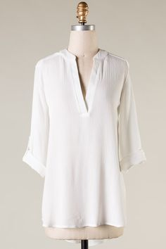 Danny Shirt in Soft White | Women's Clothes, Casual Dresses, Fashion Earrings & Accessories | Emma Stine Limited