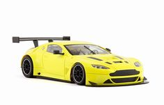 Slot cars, NSR Aston Martin Vantage GT3, 1166AW/1167AW, Test Cars Yellow and Green