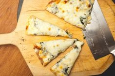 White Pizza with Spinach & Garlic — SAM THE COOKING GUY