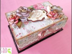 Tutorial: Decoupage e shabby chic su scatola di metallo (decoupage shabby on metal box) - YouTube