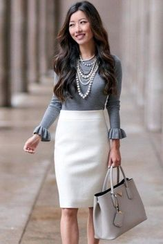 Elegant Work Outfit Idea For Women In This Year, When you're trying to find spring outfits, keep all these trends in mind. It's quite easy to produce your own outfits. The ideal travel outfit is real. Classy Outfits For Women, Stylish Work Outfits, Spring Work Outfits, Office Outfits, Clothes For Women, Classy Women, Clothes Sale, Classic Work Outfits, Clothes Shops