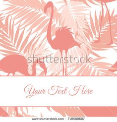 flamingo beak template - exotic tropical border frame template for event invitation