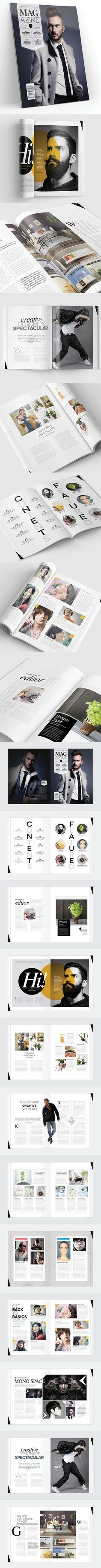 Echa un vistazo a este proyecto @Behance: \u201cMagazine Template - InDesign 24 Page Layout V12\u201d https://www.behance.net/gallery/54455637/Magazine-Template-InDesign-24-Page-Layout-V12