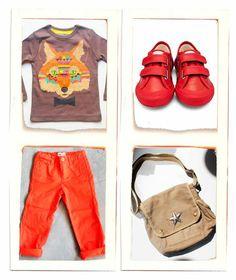 Tenue garçon Rouge/Orange/Chocolat 4 ans. #soldes #lillibulle #modeenfantine #sales #kidsfashion