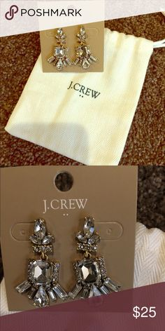 Stunning J Crew earrings New with pouch J. Crew Jewelry Earrings