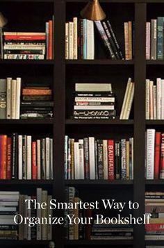 The Smartest Way to Organize Your Bookshelf via @PureWow