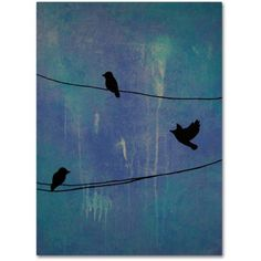 Trademark Fine Art Birds Arrival Canvas Art by Nicole Dietz, Size: 24 x 32, Multicolor