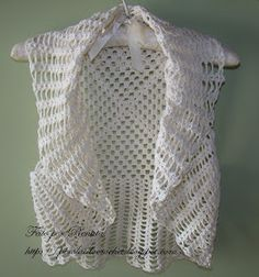 * Pérolas do Crochet: Bolero de crochet super fácil