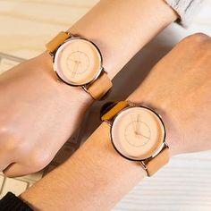 Unisex Couple Slim Retro Watch