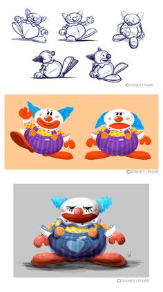 toy story 3 clown concept