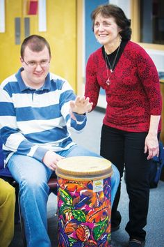 Adaptive music for special needs students. Hand over hand music production. Model program in Eau Claire, WI schools