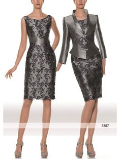 Two pieces grey dress 😍❤️👗 Elegant Outfit, Elegant Dresses, Formal Dresses, I Dress, Lace Dress, Party Dress, Mode Style, Occasion Dresses, Beautiful Outfits