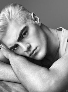 Statuesque Model - Statuesque model Jack Bradshaw stars in 'Discipline,' a monochromatic shoot that is lensed for style website F****** Young! Model Test, Model Face, Poses For Men, Face Expressions, Male Photography, Haircuts For Men, Male Models, Sculpting, Hair Cuts
