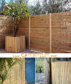 Cloture bambou regulier à Prix Canon : Clôture bambou panneau régulier L2-H1.2