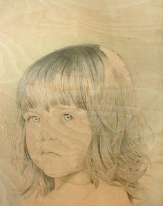 Sanna Kauppinen: Metsä, 2008, akvarelli ja lyijykynä vanerille, 61,5 x 48,5 cm