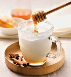 """Flavorah's Milk and Honey is a scrumptious mix of sweet and clean, the milk counterbalancing the richness of the honey, and in the end, creating what might best be described as a """"cozy"""" flavor. Milk And Honey, Panna Cotta, Alba, Ethnic Recipes, Food, Dulce De Leche, Essen, Meals, Yemek"""