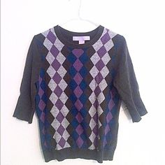 Cashmere Argyle Sweater NWOT   -No Holds -Please use the offer button: I probably will accept because I'm trying to clear out my closet  -Please no rude comments about the price or the item Thanks for stoping by my closet ❤️ Sophia Milano Tops