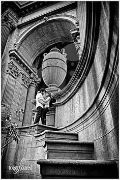 Couple at the Palace of Fine Arts, San Francisco.
