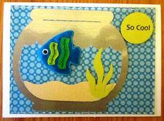 Fish Card Fish Card, Card Ideas, Dinosaur Stuffed Animal, Scrapbooking, Cool Stuff, Toys, Cards, Animals, Cool Things