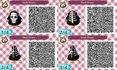 Skull dress #Halloween #acnl #AnimalCrossing #NewLeaf #Nintendo #3DS