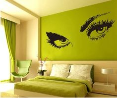 "Large Audrey Hepburn's Eyes Vinyl Wall Decal Girl's Bedroom Living room Art Decor Girl's Birthday Gift Pub Bar Salon Hotel Ornament Wall Tattoo - 45"" Black by happy-decor, http://www.amazon.com/dp/B00BTHYDPG/ref=cm_sw_r_pi_dp_.KxGsb0NE5ERJ"