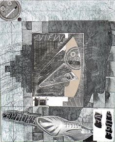 """Ray Johnson, """"Untitled (Duchamp Profile with View and Shoe)"""""""
