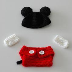 Conjunto Mickey New Born/ Recém Nascido