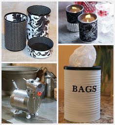 Tin can crafts that are fun, inexpensive and easy to make!