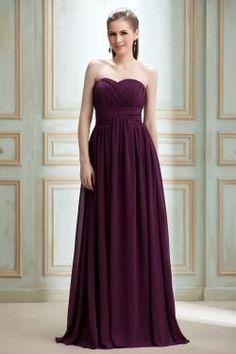 Draped A Line Floor Length Sweetheart Dress