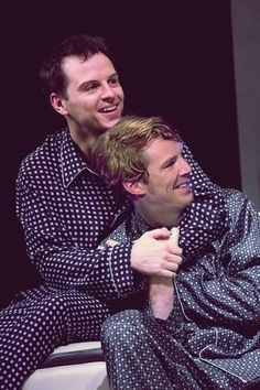 Andrew Scott and Benedict Cumberbatch.... In jammies?!?!  :D. That's why I have to repin this. @Sarah Allan