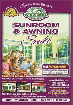 """Don't Miss Wendel Home Center's """"Sunroom & Awning Sale""""!"""