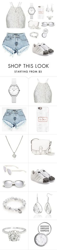 """""""▫️Chic Outfit▫️"""" by romidawsonaguila ❤ liked on Polyvore featuring Topshop, Casetify, Forzieri, MICHAEL Michael Kors, Yves Saint Laurent, adidas Originals, Sydney Evan and Obsessive Compulsive Cosmetics"""