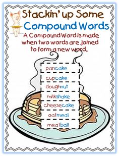 Give A Pig A Pancake-First Grade Free printable compound word unit