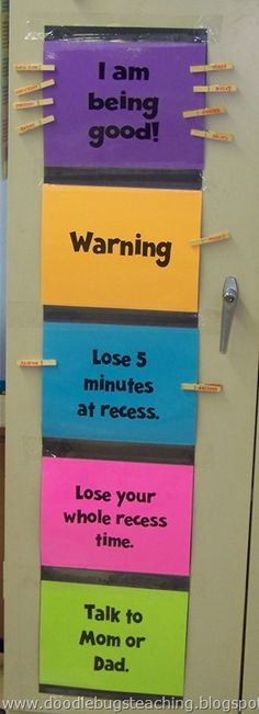 Awesome behavior chart. This could be modified to use at home too.