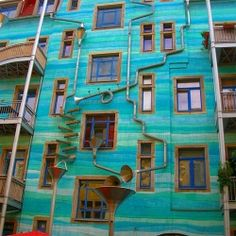 When it rains, this unique colorful wall in Germany becomes a charming musical instrument. #dwellinggawker