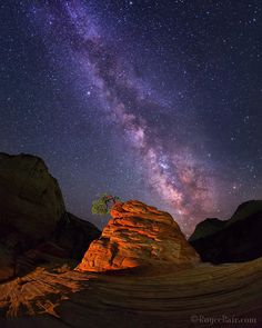 "ADVERSITY. Milky Way over Zion's ""Lone Little Tree"" Zion National Park. One exposure with stationary light painting (explained in my eBook: http://ift.tt/1v5MkGu). Taken with a Canon 5D Mark III using an EF15mm f/2.8 Fisheye (f/2.8  30 sec  ISO 5000). .  We all have challenges in life. This gnarled and struggling ""Lone Little Tree"" in Zion National Park has had more than its share! Perched atop a sandstone cliff that rises about 20 feet above its rock base it continues to survive in a harsh…"
