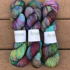 Oh my god you guys. The yarn for my Pavement Sweater by @veerarain arrived today, @dreamincoloryarn Jilly in the colorway Mermaid Shoes and IT'S SO STINKIN GORGEOUS!! I fell in love with this colorway at a LYS in Charlottesville, VA when I picked up a skein of Classy and made a shawlette which I get so many compliments on. I can't wait to see how the colorway looks in a whole garment (and a Veera design no less!!) Squee!!