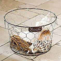Large Round Wire Basket