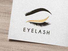 Vector logo design template for beauty salon. Lash and Brow icon. A fully editable and resizable vector logo Formats: AI - Adobe Illustrator (CC / CS). Vector Logo Design, Logo Design Template, Logo Templates, Branding Design, Graphic Design, Eyelash Logo, Makeup Artist Logo, Lashes Logo, Eye Logo