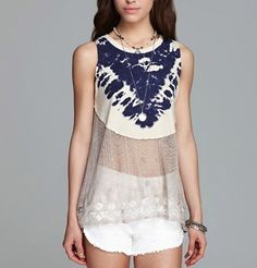 Free People Bonnaroo Tie Dye Tank Tunic Top Antique #tie #dye #tops www.loveitsomuch.com