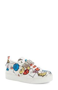 Moschino Low Top Buckle Sneaker (Women)